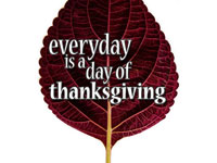 Everyday Is A Day Of Thanksgiving