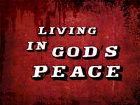 Living In God's Peace